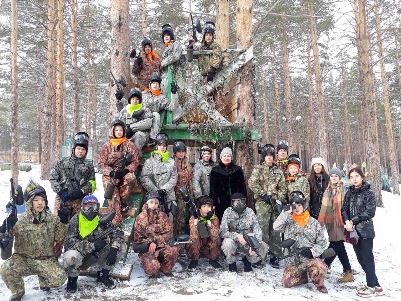 Группа ЭБАС19 в спортивном тактическом пейнтбольном клубе «Точка отрыва»